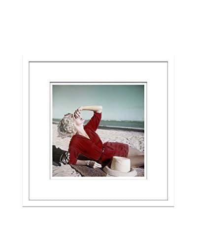 "Conde Nast Glamour Magazine ""Model On The Beach"" Editorial Art"