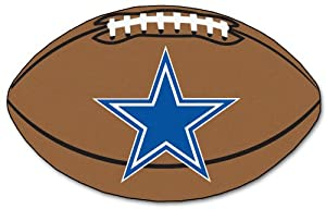 Dallas Cowboys 22x35 Football Floor Mat (Rug) by Hall of Fame Memorabilia