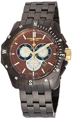 Chase-Durer Men's 850.4CGM Crossfire Gunmetal Ion-Plated Stainless Steel Chronograph Watch