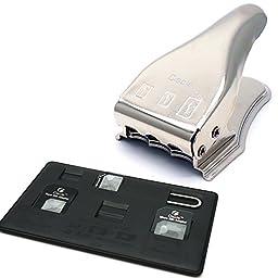Ciscle Sim Card Cutter, Sim/Micro/Nano 3in1 SIM cutter Sim nano SIM micro SIM cutter for iPhone 6 Plus iPhone 6 iPhone 5 iPhone 4, 4S and other Phones + Sim adapter 5in1 (Silver)