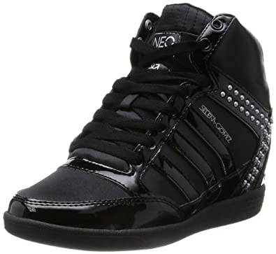 Adidas Womens BBNEO Selena Gomez Wedge Lifestyle Shoes Black/Metallic