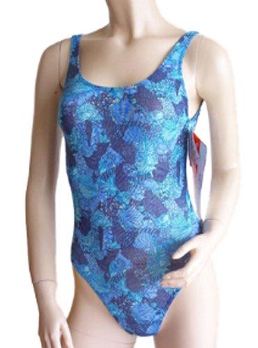 Solar Tan Thru sportlicher Badeanzug 500036-50 blau, Gr. 38 B-Cup