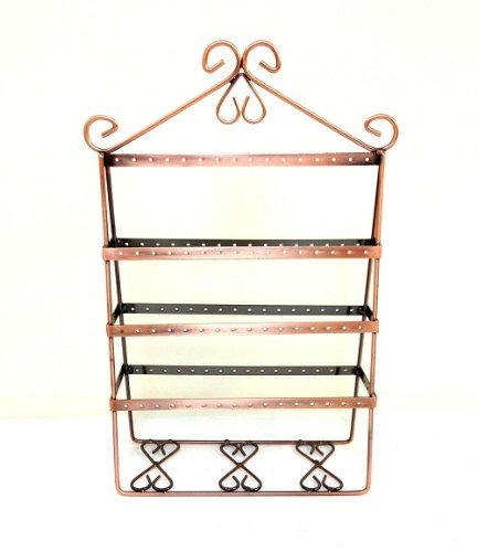 Vintage Copper Wire Jewelry Organizer Earring Holder / Earing Tree / Earing Stand / Earing Organizer front-13369