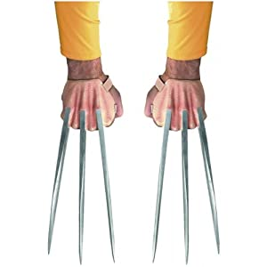 Wolverine Origins Adamantium Adult Claws Silver One-Size Marvel Adult