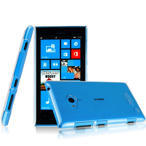Heartly Imak Crystal Transparent Flip Thin Hard Bumper Back Case Cover For Nokia Lumia 720