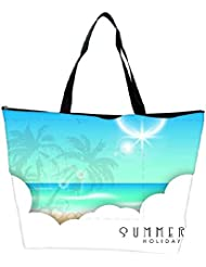 Snoogg Abstract Summer Background Waterproof Bag Made Of High Strength Nylon - B01I1KL62Q