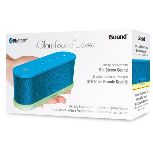 iSound iGlowSound Waves Bluetooth Speaker for Smartphones - Retail Packaging digital treasures lyrix jive jumbo bluetooth speaker speakers retail packaging