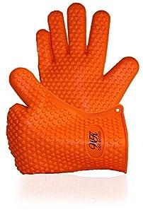 Wellsir Kitchen Premium Silicone Oven Gloves Offer Superior Heat Resistance with an Ultra Flexible, 5 Finger Grip