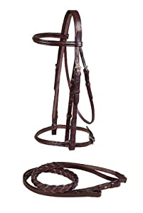 Tory Leather Plain Raised Bridle Pony Havana