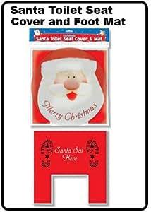 Santa Toilet Seat Cover and Foot Mat