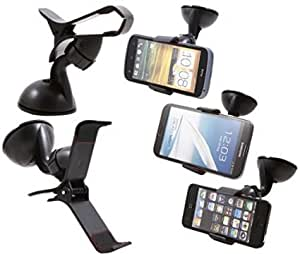 Gadget Decor Car Mount Cradle Holder Windsheild Mobile / GPS Suction Holder Stand For Lava Iris X1 Atom S  (Clip Type)