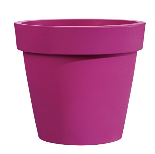 Vaso campana bordata moderna Ø 45 cm in resina colore fucsia