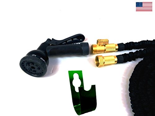Garden Hose 75 ft Best Expandable Water Hose USA Grade Brass Connectors New STRONGEST On The Planet Collapsible Retractable Light,Pocket Easy Storage without Reel-Gardening Gifts-Buy with (How Many Days Is Standard Shipping)