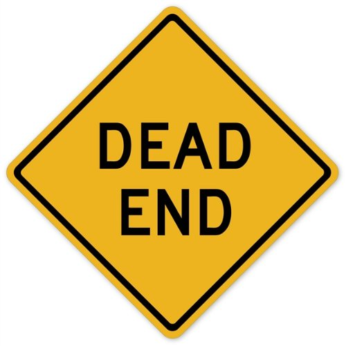 Walls 360 Peel & Stick Traffic and Street Sign Wall Decals: Dead End (12 in x 12 in) - 1