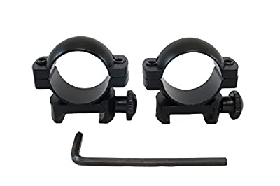 """Monstrum Tactical 1"""" Scope Ring Set, Low Profile, with Picatinny/Weaver Rail Mount"""
