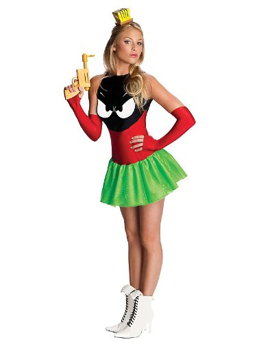 Sexy Womens Marvin The Martian Costume Bundle With Accessories ( SIZE L )