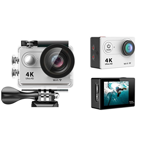 Sport Camera, TONSEE Waterproof H9 Ultra HD 4K WiFi 2.0 Inch Sport Camera Video Camcorder - Silver (High Speed Camera 5000 Fps compare prices)