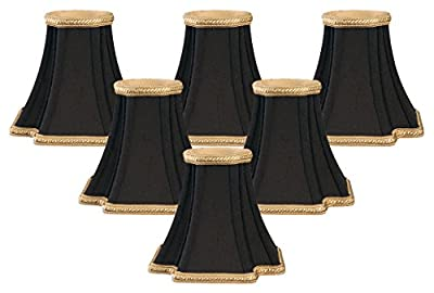 Royal Designs Decorative Trim Inverted Corners Chandelier Lamp Shade