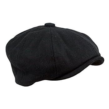 Men's Wool Blend Applejack Houndstooth Plaid Ivy Newsboy Hat