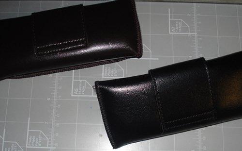 Beltloop Vintage Style Eyeglass case (Black) 1