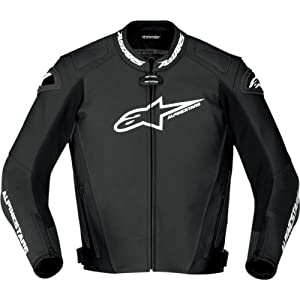Alpinestars GP Pro Jacket , Size: 56, Apparel Material: Leather, Primary Color: Black, Gender: Mens/Unisex, Distinct Name: Black 3105011-10-56