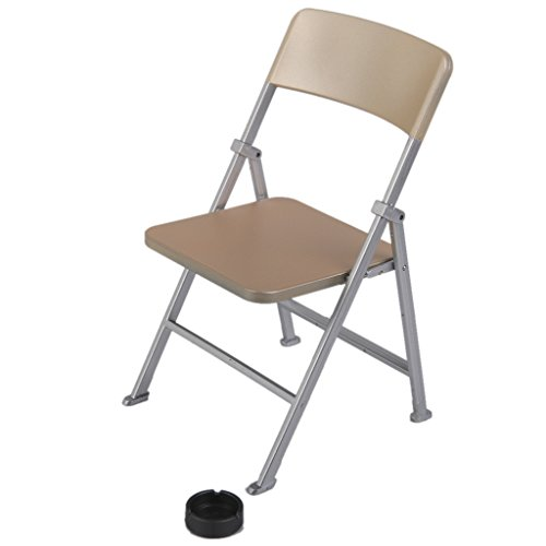 Generic 1 6 Scale Mini Folding Chair with Ashtray for Dolls Action Figures Go