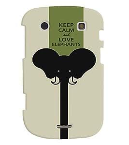 Fuson Premium Love Elephants Printed Hard Plastic Back Case Cover for Blackberry Bold 9930
