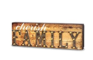 Pavilion Gift Company 35003 Marquee Sign Decorative Plaque, 13 by 4-1/4-Inch, Family