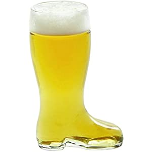 Stolzle Bierstiefel Single Liter Glass Beer Boot, Party Pack - Set of 6