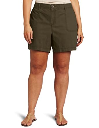 Dockers Women's Plus-Size Utility Promo Short, Olive Branch, 22