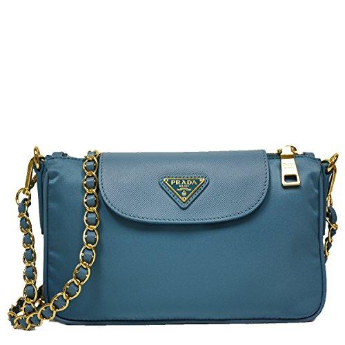 Prada-Turquoise-Blue-Tessuto-Saffiano-Nylon-Leather-Chain-Handle-Crossbody-Shoulder-Bag-BT0779