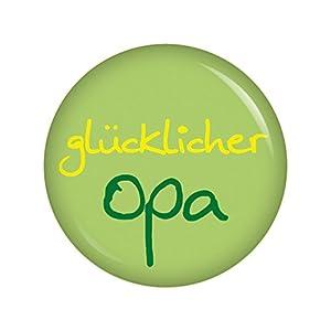 glücklicher Opa Button Ansteckbutton 37mm für die lieben Verwandten