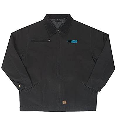 NFL Carolina Panthers Tradesman Canvas Quilt Lined Jacket, Black, X-Large