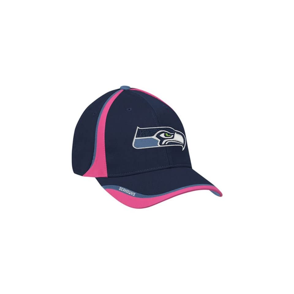 Reebok NFL Seattle Seahawks Navy Blue   Pink Breast Cancer Awareness ... 372e9baae