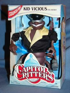 "Kenner 1992 6"" Capitol Critters Kid Vicious the Evil Roach Figure"