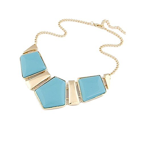WHATWEARS Chain Necklace Pendant Alloy Statement Choker Chunky Collar Jewelry
