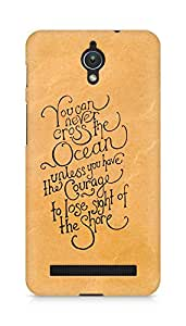 AMEZ you can never cross the Ocean Back Cover For Asus Zenfone C ZC451CG