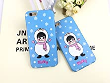 buy Liujie Iphone 6S (4.7) Protective Cases Cover Soft-Tpu Material [Scratch Protection And Shockproof ] Trendy Flower Cute Cartoon Print Pattern Cases For Iphone 6 (4.7Inch) (Snow+Girl)