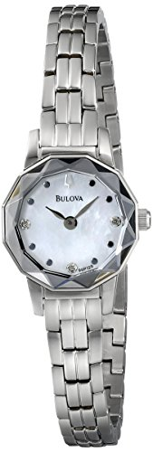 Bulova Women'S 96P129 Diamond Faceted Watch
