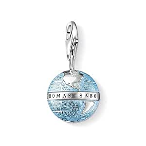 Thomas Sabo Damen-Charm Club Weltkugel Sterlingsilber 925 Emaille 0754-007-1