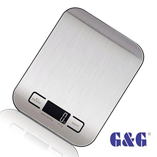 GungG KI Balance culinaire pèse-lettres balance de précision 17 mm 5kg/1 g noir