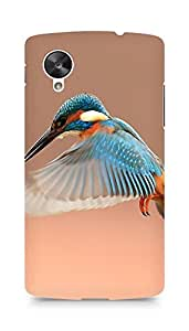 Amez designer printed 3d premium high quality back case cover for LG Nexus 5 (Beautiful Flapping Kingfisher Bird)
