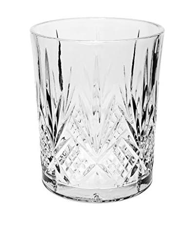 Godinger Dublin Crystal Wastebasket, Clear
