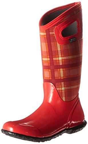 Bogs Women's North Hampton Plaid Winter/Rain Boot, Red/Multi, 6 M US (Hampton Stores)