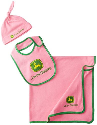 John Deere Baby-Girls Newborn Trademark Layette Set, Medium Pink, One Size