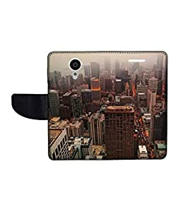 KolorEdge Printed Flip Cover For Gionee Elife E7 Multicolor - (55KeMLogo09718GioneeE7)