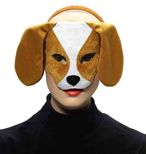 Forum Novelties Deluxe Plush Puppy Dog Animal Half Mask - 1