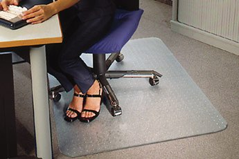 Polycarbonate Chair Mat for Carpets Rectangular 120x150cm. Clear. Delivered Free with a 100% Satisfaction Guarantee by Mats4U.