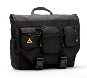 BBP Hamptons Hybrid Messenger/Backpack Laptop Bag Obsidian Black Large