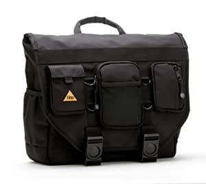 BumBakPak Hamptons Hybrid Messenger/Backpack Laptop Bag Obsidian Black Medium